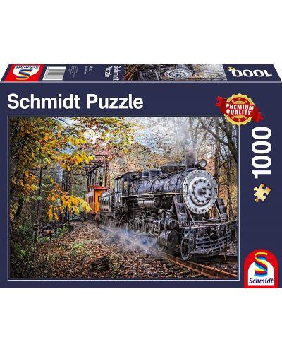 Пъзел Schmidt от 1000 части - Влакът в гората - 1
