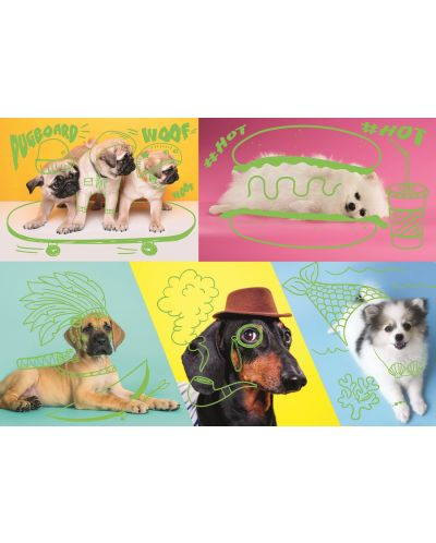 Пъзел Trefl от 1000 части – Странни кучета - 2