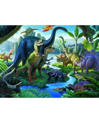 Пъзел Ravensburger от 100 XXL части - Земя на динозаври - 2