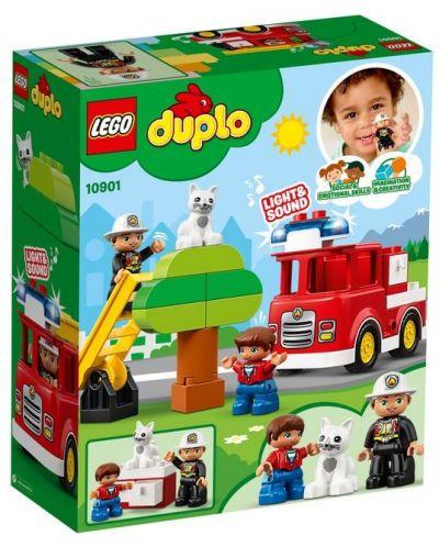 Конструктор Lego Duplo - Пожарникарски камион (10901) - 6