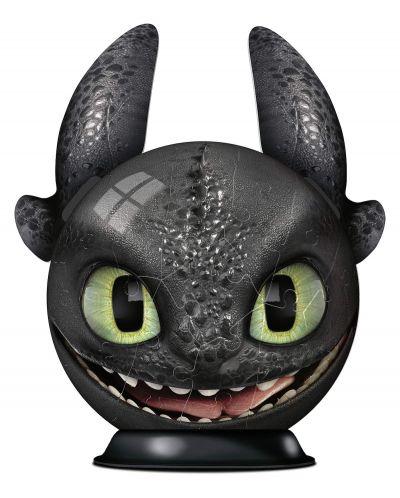 3D пъзел Ravensburger от 72 части - Как да си дресираш дракон 3, Беззъб - 2