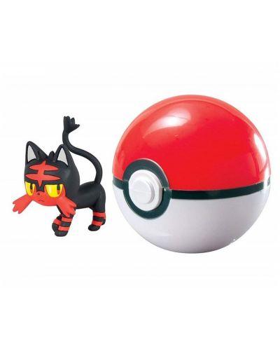 Екшън Poké топка Pokémon - Litten - 2