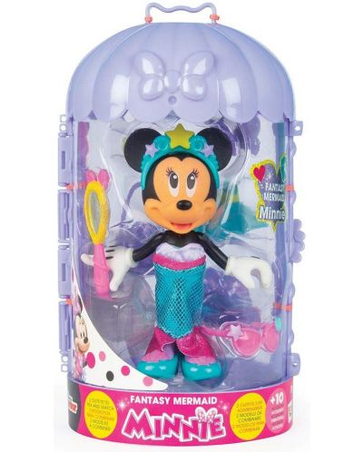 Кукла IMC Toys Disney - Мини Маус, русалка, 15 cm - 1