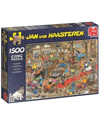 Пъзел Jumbo от 1500 части - Кучешкото шоу, Ян ван Хаастерен - 1