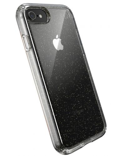 Калъф speck -  iPhone SE, 8,7, Gold Gliter, прозрачен - 5