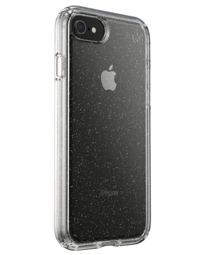 Калъф speck -  iPhone SE, 8,7, Gold Gliter, прозрачен - 3