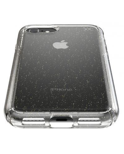 Калъф speck -  iPhone SE, 8,7, Gold Gliter, прозрачен - 2