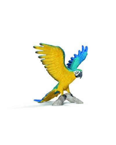 Фигурка Schleich от серията Дивия живот - Америка: Ара, синьо-жълт - 1