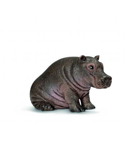 Фигурка Schleich от серията Дивия живот - Африка: Хипопотам, бебе - 1