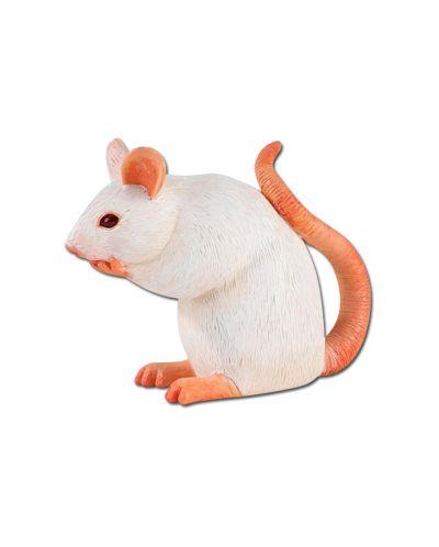 Фигурка Schleich от серията Малки домашни животни: Бяла мишка - 1