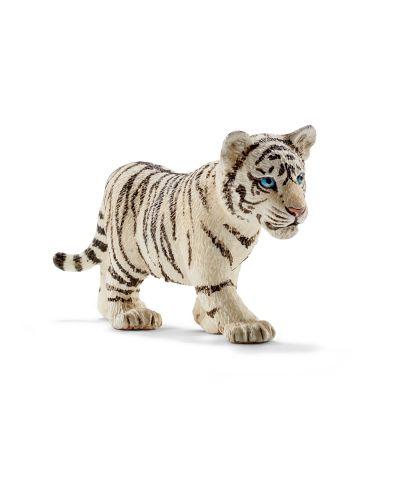 Фигурка Schleich - Тигър бял - бебе - 1