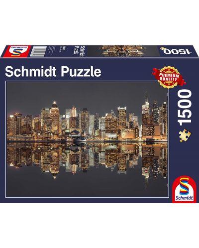 Пъзел Schmidt от 1500 части - Нощен Ню Йорк - 1