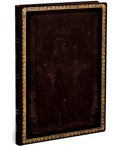Тефтер Paperblanks - Black Maroccan, с ластик - 3