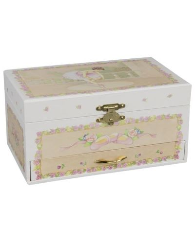 "Музикална кутия с чекмедже Goki - Балерина, ""Swan lake"" - 2"