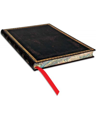 Тефтер Paperblanks - Black Maroccan, с ластик - 4