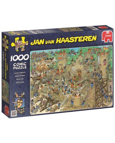 Пъзел Jumbo от 1000 части - Обсада на замъка, Ян ван Хаастерен - 1