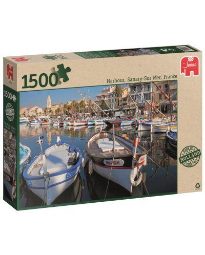 Пъзел Jumbo от 1500 части - Пристанище Санари сюр Мер - 1