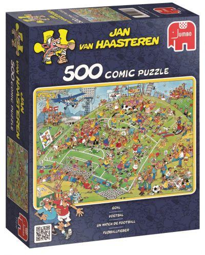 Пъзел Jumbo от 500 части - Футболен мач, Ян ван Хаастерен - 1