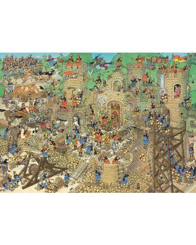 Пъзел Jumbo от 1000 части - Обсада на замъка, Ян ван Хаастерен - 2
