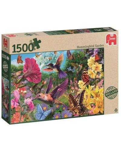 Пъзел Jumbo от 1500 части - Градината на колибритата - 1