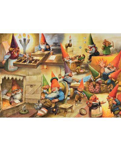 Пъзел Jumbo от 1000 части - Къщата на гномите, Рин Портфлит - 2