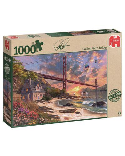 Пъзел Jumbo от 1000 части - Мостът Голдън гейт, Доминик Дейвисън - 1