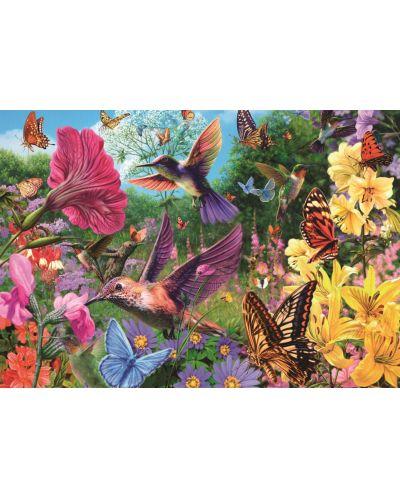 Пъзел Jumbo от 1500 части - Градината на колибритата - 2