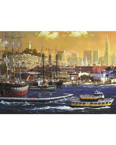 Пъзел Jumbo от 1000 части - Пристанището в Сан Франциско - 2