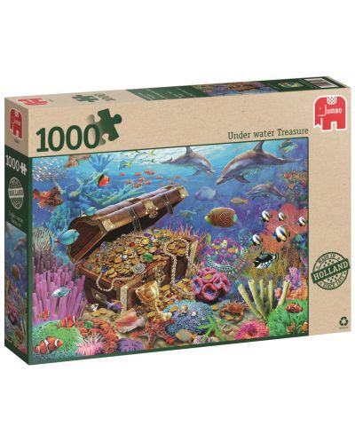 Пъзел Jumbo от 1000 части - Подводно съкровище - 1