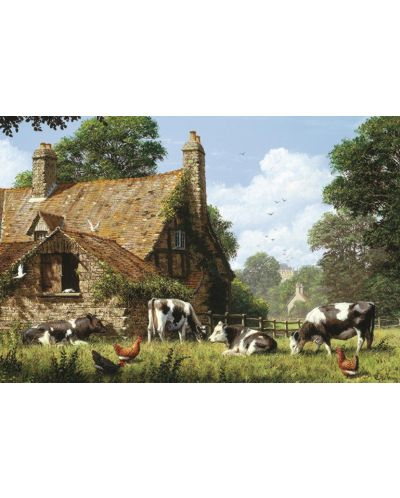 Пъзел Jumbo от 1500 части - Крави във фермата - 2