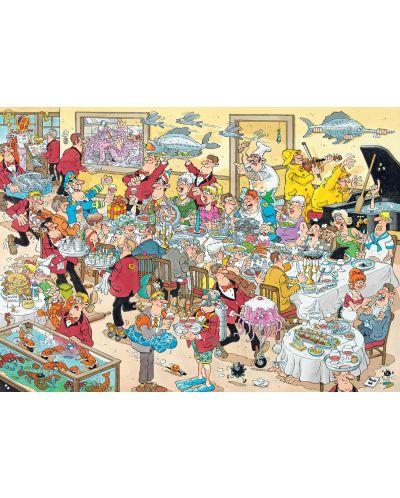 Пъзели Jumbo 2 х 1000 части - Вечеря с морски дарове и Сблъсъкът на хлебарите, Ян ван Хаастерен - 2