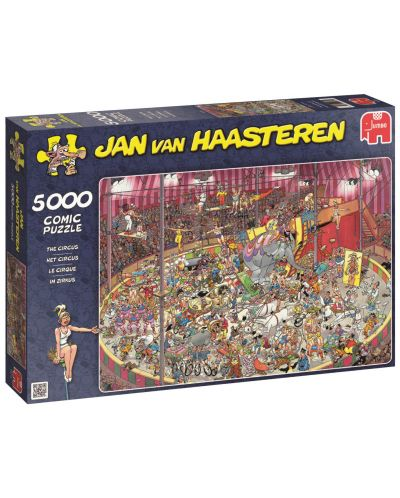 Пъзел Jumbo от 5000 части - Цирк, Ян ван Хаастерен - 1