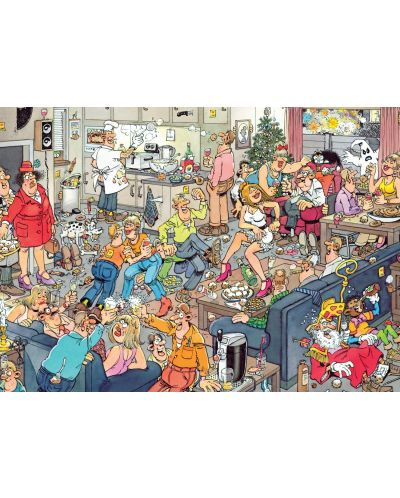 Пъзели Jumbo 2 х 1000 части - Коледните празници, Ян ван Хаастерен - 2