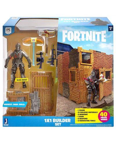 Комплект фигурки Jazwares Fortnite - Builder Set, с фигурка Black Knight, 40 части - 1