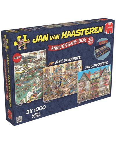 Пъзели Jumbo 3 х 1000 части - Комплект по случай 30-годишнината, Ян ван Хаастерен - 1