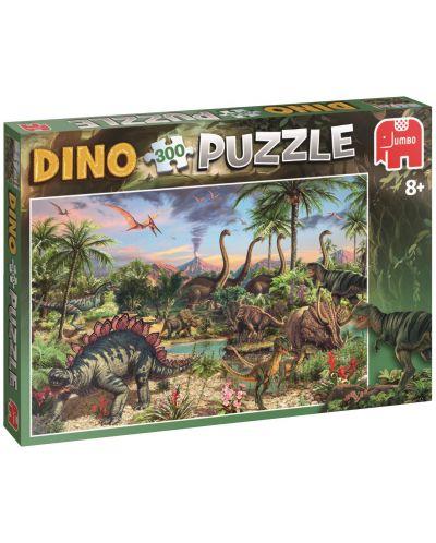 Пъзел Jumbo от 300 части - Динозавър - 1