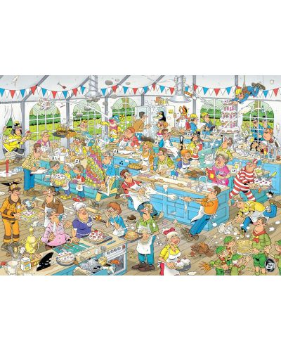 Пъзели Jumbo 2 х 1000 части - Вечеря с морски дарове и Сблъсъкът на хлебарите, Ян ван Хаастерен - 3