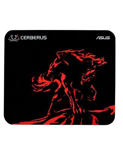 Гейминг подложка Asus - Cerberus Mat Mini, черна/червена - 1