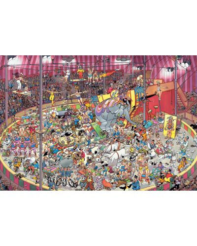Пъзел Jumbo от 5000 части - Цирк, Ян ван Хаастерен - 2