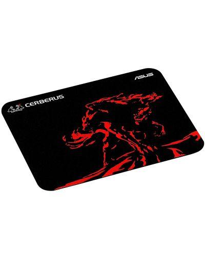 Гейминг подложка Asus - Cerberus Mat Mini, черна/червена - 2