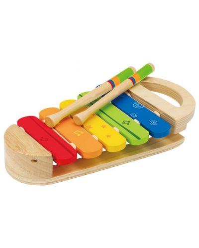 Дървена играчка Hape - Разноцветен ксилофон - 1