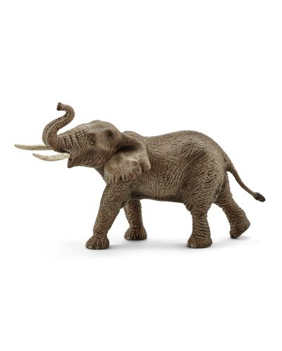 Фигурка Schleich от серията Дивия живот - Африка: Африкански слон - мъжки с вдигнат хобот - 1