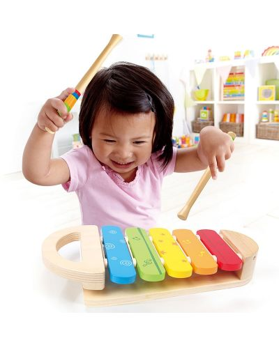 Дървена играчка Hape - Разноцветен ксилофон - 5