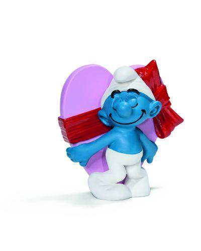 "Фигурка Schleich от серията ""Смърфовете – забавни фигурки"": Смърф - Честит Свети Валентин - 1"