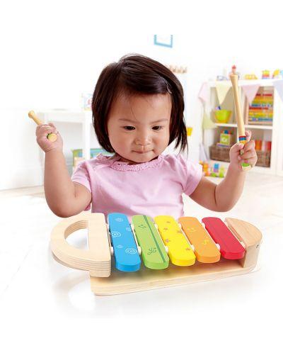 Дървена играчка Hape - Разноцветен ксилофон - 3