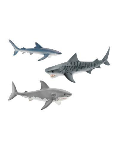 Фигурки Schleich от серията Аксесоари към Диви Животни: Комплект акули - 1