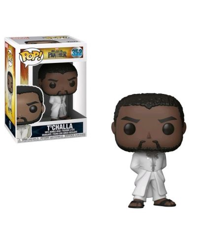 Фигура Funko Pop! Movies: Black Panther - T'Challa (Bobble-Head), #352 - 2