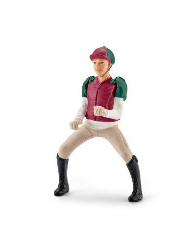 Фигурка Schleich от серията Аксесоари към Животни във фермата: Ездач - всестранна езда, розово - 1