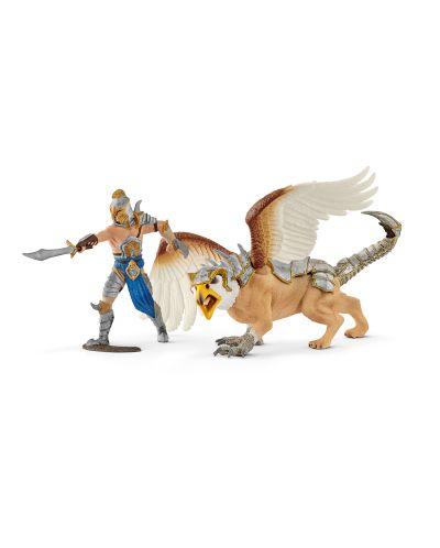 Фигурка Schleich от серията Рицари на Грифона: Воин с грифон - 1