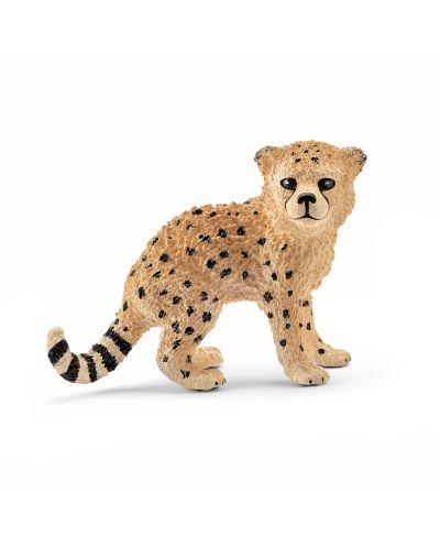 Фигурка Schleich от серията Дивия живот - Африка: Гепард - бебе - 1